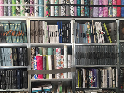 Stoffe und textile Dekoration